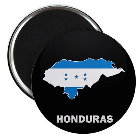 Flag Map of Honduras Magnet