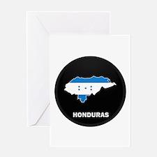 Flag Map of Honduras Greeting Card
