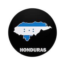 "Flag Map of Honduras 3.5"" Button"
