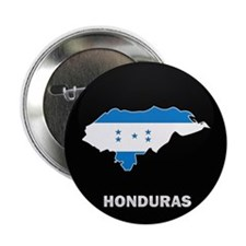 "Flag Map of Honduras 2.25"" Button"