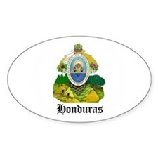 Honduran Coat of Arms Seal Oval Decal
