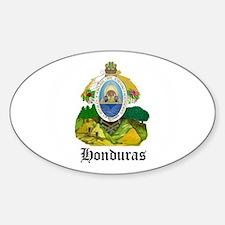Honduran Coat of Arms Seal Oval Decal