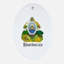 Honduran Coat of Arms Seal Oval Ornament