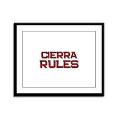 cierra rules Framed Panel Print