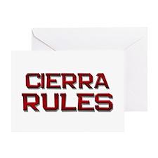 cierra rules Greeting Card