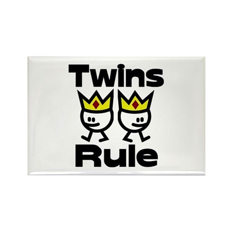 Twins Rule 2 Rectangle Magnet