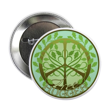 "Peaceful Tree Hugger 2.25"" Button (10 pack)"