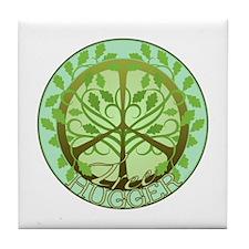 Peaceful Tree Hugger Tile Coaster