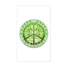 Peaceful Tree Hugger Rectangle Decal