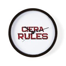 ciera rules Wall Clock