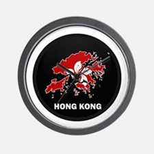 Flag Map of Hong Kong Wall Clock