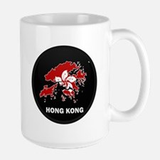 Flag Map of Hong Kong Large Mug