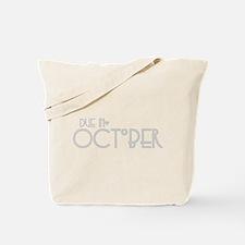 Grey Urban Heart Due October Tote Bag