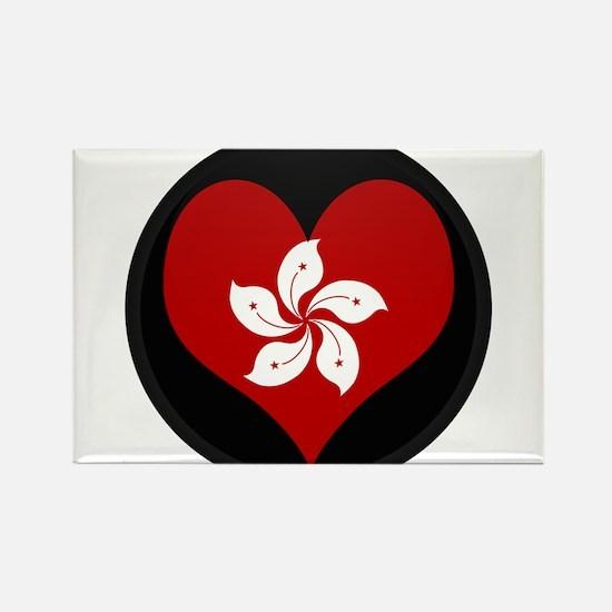 I love Hong Kong Flag Rectangle Magnet