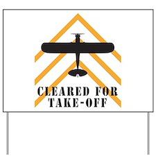 Aviation Airplane Runway Yard Sign