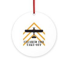 Aviation Airplane Runway Ornament (Round)
