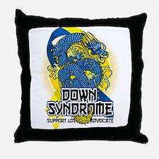 Down Syndrome Dragon Throw Pillow