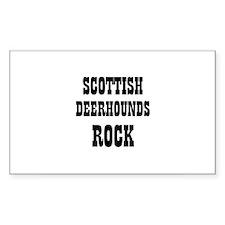 SCOTTISH DEERHOUNDS ROCK Rectangle Decal
