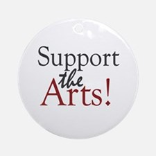 Support the Arts Ornament (Round)