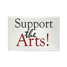Support the Arts Rectangle Magnet (100 pack)