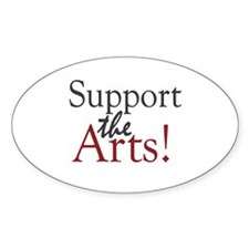Support the Arts Oval Decal