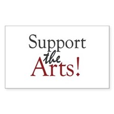 Support the Arts Rectangle Decal