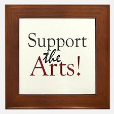Support the Arts Framed Tile