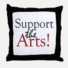 Support the Arts Throw Pillow