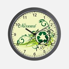 Missouri Recycle T-Shirts and Gifts Wall Clock