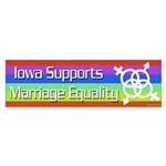 Iowa Marriage Equality bumper sticker