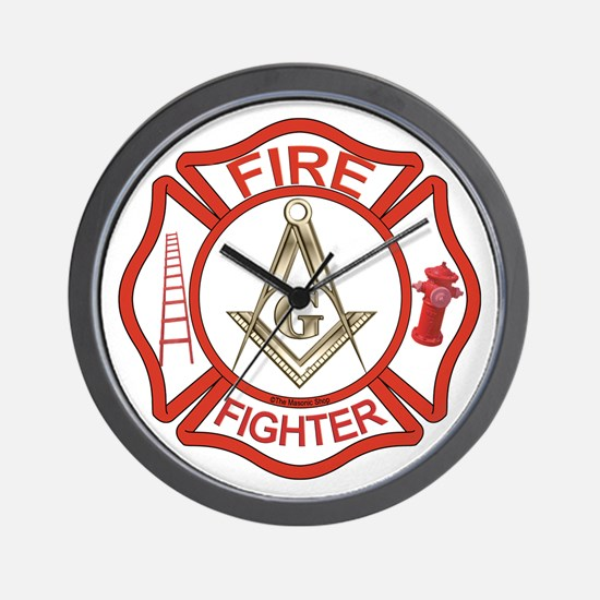 Mason Fire Fighter Wall Clock