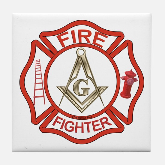 Mason Fire Fighter Tile Coaster