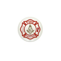 Mason Fire Fighter Mini Button (10 pack)