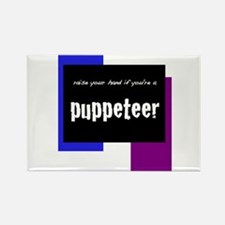 Cute Puppet theatre Rectangle Magnet