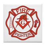 Brother Fire Fighter Tile Coaster