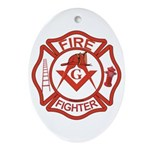 Brother Fire Fighter Oval Ornament