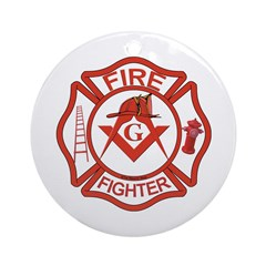 Brother Fire Fighter Ornament (Round)