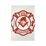 Brother Fire Fighter Rectangle Magnet