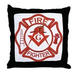 Brother Fire Fighter Throw Pillow