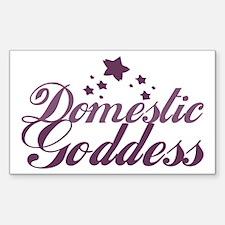 Domestic Goddess Rectangle Decal