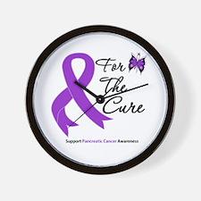 Pancreatic Cancer Cure Wall Clock