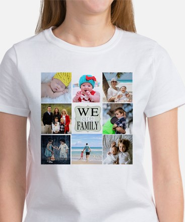 Custom Family Photo Collage T-Shirt