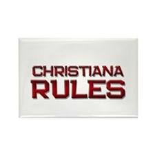 christiana rules Rectangle Magnet