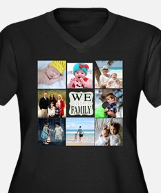 Custom Family Photo Collage Plus Size T-Shirt