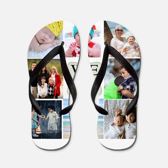 Custom Family Photo Collage Flip Flops