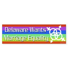 Delaware Wants Marriage Equality bumper sticker