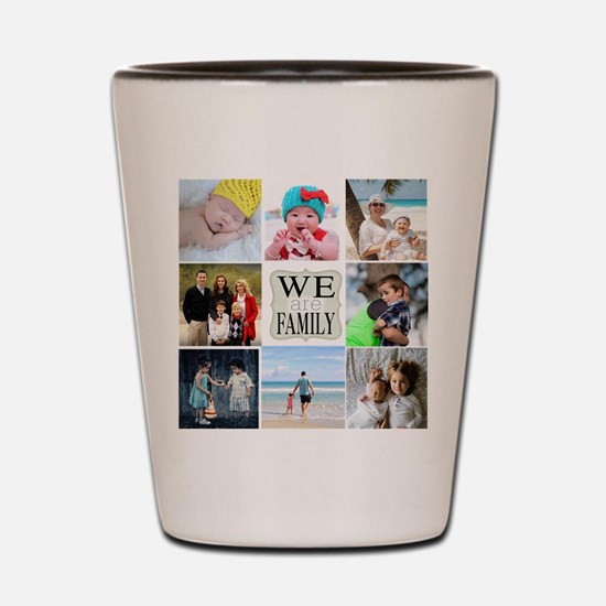 Custom Family Photo Collage Shot Glass