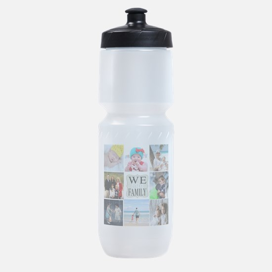 Custom Family Photo Collage Sports Bottle