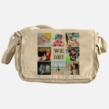 Custom Family Photo Collage Messenger Bag