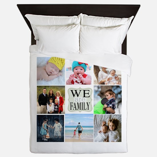 Custom Family Photo Collage Queen Duvet